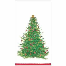 Classic GLITTERING TREE Christmas Caspari 15 guest towels di