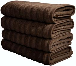 Classic Turkish Towels 4 Piece Luxury Hand Towel Set - 20 x