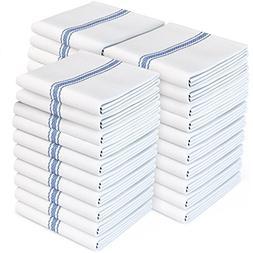 Zeppoli Classic White Kitchen Towels, 30-Pack 100% Natural C