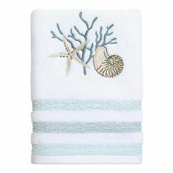 Avanti Linens Coastal Terrazzo Hand Towel - White