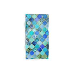 cobalt blue decorative moroccan tile