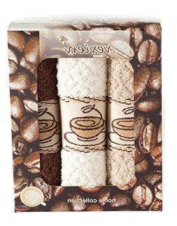 ixirhome Coffee Design Kitchen Towels Gift Set ||%100 Turkis