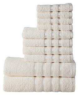 Panache Home Collection 10 Piece 100-percent Combed Cotton 5