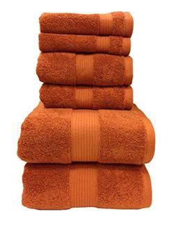 Copper 6 PC Towel set, includes: 2 Bath Towels , 2 Hand Towe