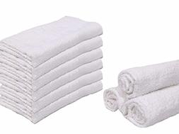 100% Cotton 16X27 inches Hand Towels WHITE 12 pack by OMNI L