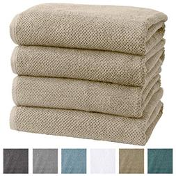 Great Bay Home 4-Pack 100% Cotton, Ultra-Absorbent Popcorn B