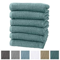 Great Bay Home 6-Pack 100% Cotton, Ultra-Absorbent Popcorn H