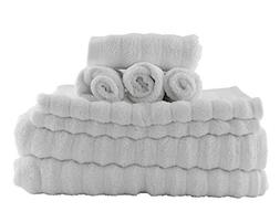Darware 100% Cotton 8-Piece Bath Towel Set, Quick-Dry 510 GS