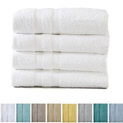 4-Pack Premium 100% Cotton Bath Towel Set  Multipack For Hom