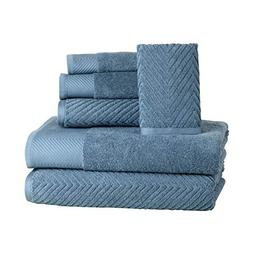 6 Piece Premium Cotton Bath Towels Set - 2 Bath Towels, 2 Ha