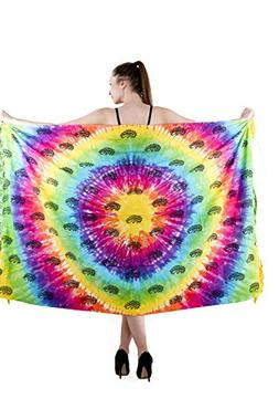 The Indian Craft Multicolor Cotton Fouta Towel - Tie Dye Col
