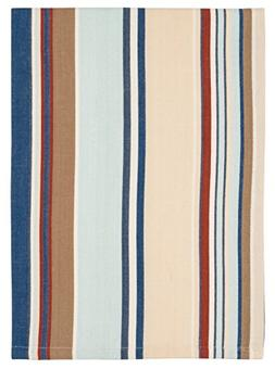 cotton blue red white striped