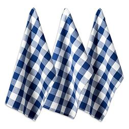 DII Cotton Buffalo Check Plaid Dish Towels,  Monogrammable O
