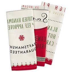 DII Christmas Dishtowel Decorative Oversized, Set of 3, Nort