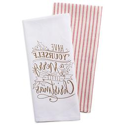 DII Cotton Christmas Holiday Dish Towels, 18x28 Set of 2, De