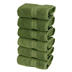 TURKUOISE TURKISH TOWEL 6-Piece Turkish Cotton Double Border