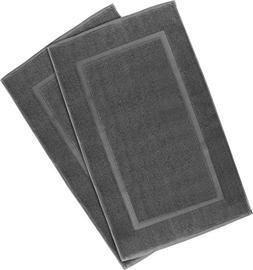 Cotton Fabric Washable Bath Mat Absorbent Shower Floor Rug B