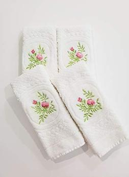AdonisUSA Set of 4. 100% Cotton Fingertip or Hand Towels. Si