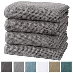 4-Pack 100% Cotton, Ultra-Absorbent Popcorn Bath Towels. 6 E