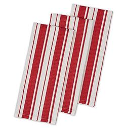 "DII Cotton Gourmet Stripe Dish Towels, 18 x 28"" Set of 3, He"