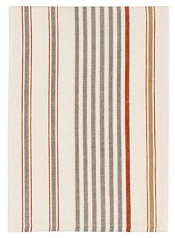 "100% Cotton Gray & White Striped 20""x28"" Dish Towel, Set of"