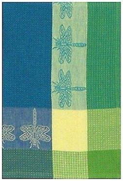"Traders and Company 100% Cotton Green & Blue 20""x28"" Dish To"
