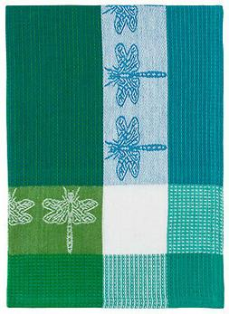 """Traders and Company 100% Cotton Green & Blue 20""""x28"""" Dish To"""