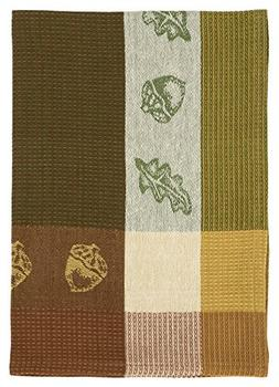 "100% Cotton Green & Brown 20""x28"" Dish Towel, Set of 3 - Aco"
