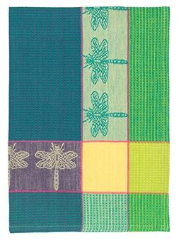 "100% Cotton Green & Purple 20""x28"" Dish Towel, Set of 6 - Dr"