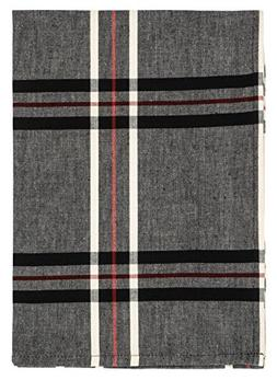 """Traders and Company 100% Cotton Grey Red & Black Plaid 20""""x2"""