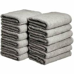 AmazonBasics Cotton Hand Towel - 12-Pack, Grey Home &amp Kit