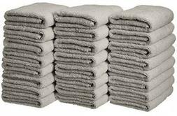 AmazonBasics Cotton Hand Towel - 24-Pack, Grey