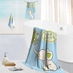 aolankaili Cotton Large Hand Towel Set Children vector illus