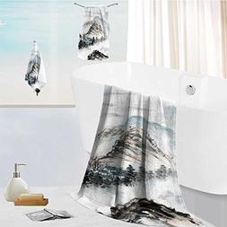 aolankaili Cotton Large Hand Towel Set Chinese Landscape Pai