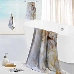 aolankaili Cotton Large Hand Towel Set close up of marble pa