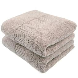 Cleanbear 100% Cotton Hand Towels, Highly Absorbent, 2-Pack,