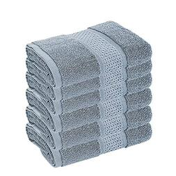 Cotton Hand Towels Bulk of 6-Pack, 16x31 Inches Luxury Spa T