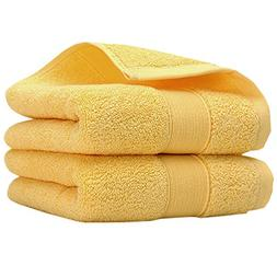 Pidada Hand Towels Set of 2 100% Cotton Highly Absorbent Sof