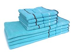 Honla 8-Piece Cotton Hand Towels and Washcloths Set with Str