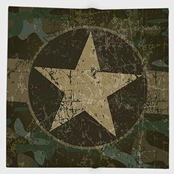Cotton Microfiber Hand Towel,Camo,Grunge Dusty Dirty Design