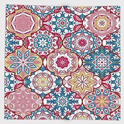Cotton Microfiber Hand Towel,Moroccan,Ethnic Colorful Bohemi