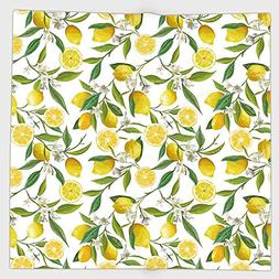 Cotton Microfiber Hand Towel,Nature,Exotic Lemon Tree Branch