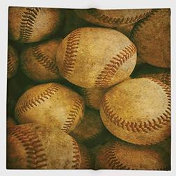 Cotton Microfiber Hand Towel,Vintage,Vintage Baseball Backgo