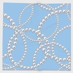 Cotton Microfiber Hand Towel,Pearls Decor,Pearl Necklace Bra