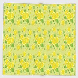 Cotton Microfiber Hand Towel,Kitchen Decor,Lemon and Lime Pa