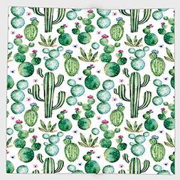 Cotton Microfiber Hand Towel,Green Decor,Mexican Texas Cactu