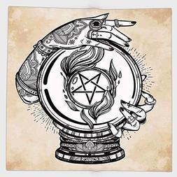 Cotton Microfiber Hand Towel,Occult Decor,Illustration of Me