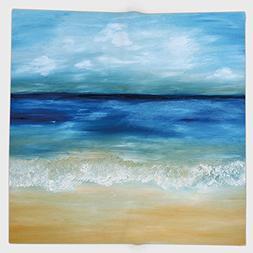 Cotton Microfiber Hand Towel,Art,Tropical Sandy Beach Pure W