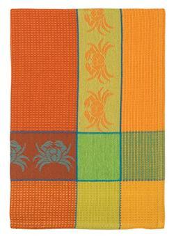 "100% Cotton Orange & Lime 20""x28"" Dish Towel, Set of 3 - Cra"