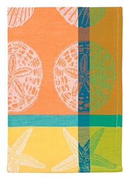"""Traders and Company 100% Cotton Orange Lime Yellow 20""""x28"""" D"""